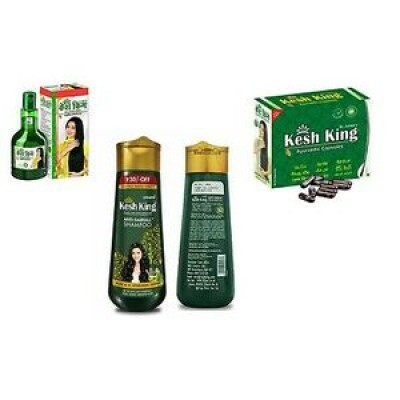 Kesh King Hair Care 100 ml oil + 30 Capsule + Shampoo 200 ml  Combo