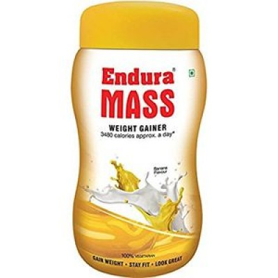 Endura Mass-Weight Gainer banana Flavours 500gm combo of 2 packs